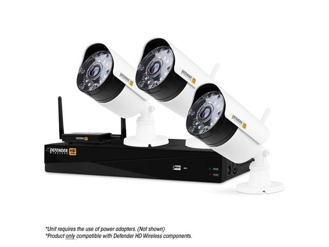 Defender Wireless HD 1080p 4 Channel 1TB DVR Security System with Smart Adaptive Wireless Technology and 3 Long Range Night...