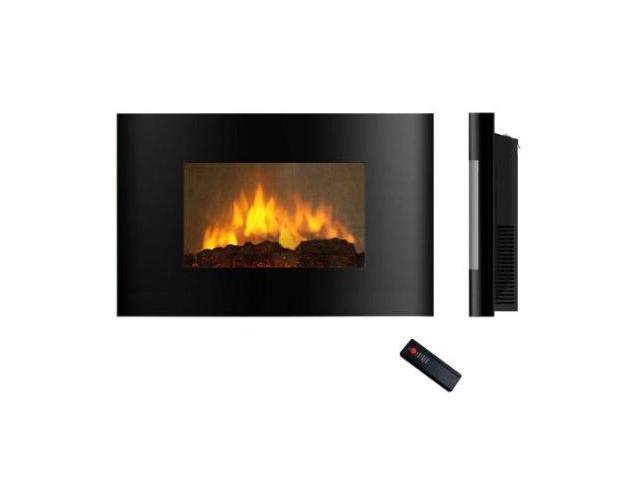 Akdy 520AL Wall Mounted Electric Fireplace Control Remote Heater Firebox Black