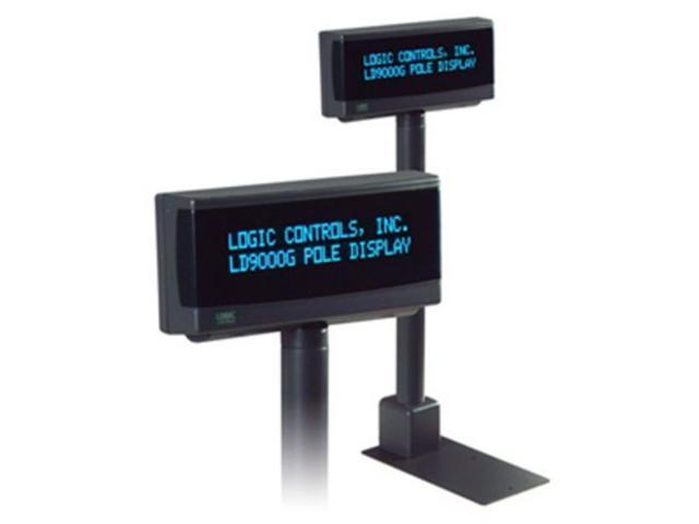 LOGIC CONTROLS LD9900TUP-GY 2X20,GREY,USB,9.5MM TELESCOPIC OPOS,SLG SIDE DPLAY, PORT PWR