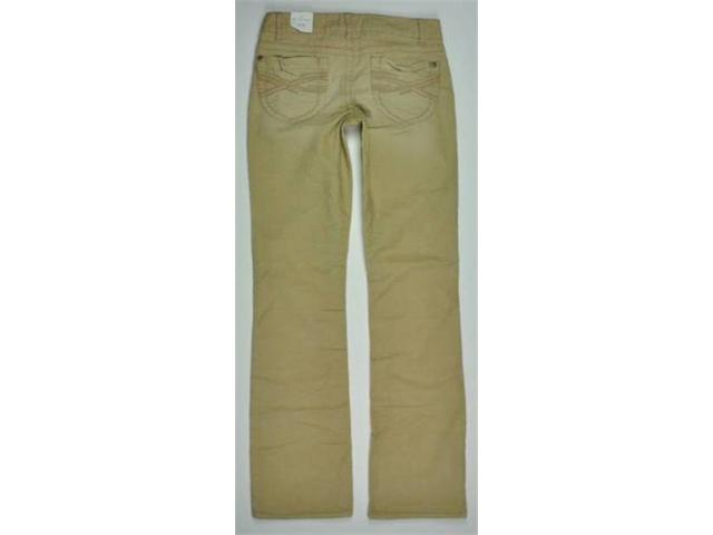Aeropostale Womens Solid Casual Corduroy Pants beigedarkst 1/2x32