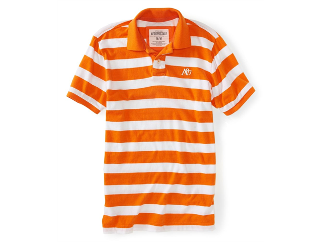 Aeropostale Mens Bright A87 Stripe Rugby Polo Shirt 816 XS