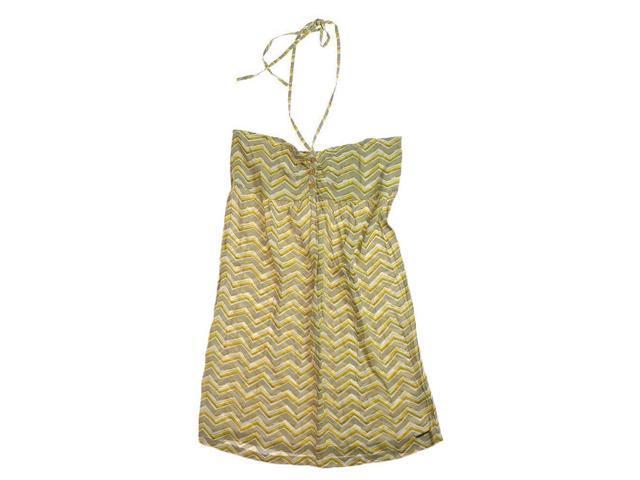 Ecko Unltd. Womens Printed Rayon Halter Sundress mustardyl L