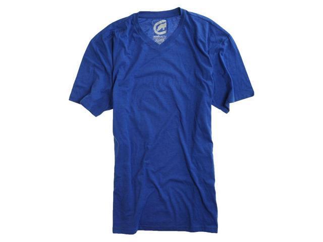 Ecko Unltd. Mens Define By Design Leather Vneck Graphic T-Shirt olympicblu XL