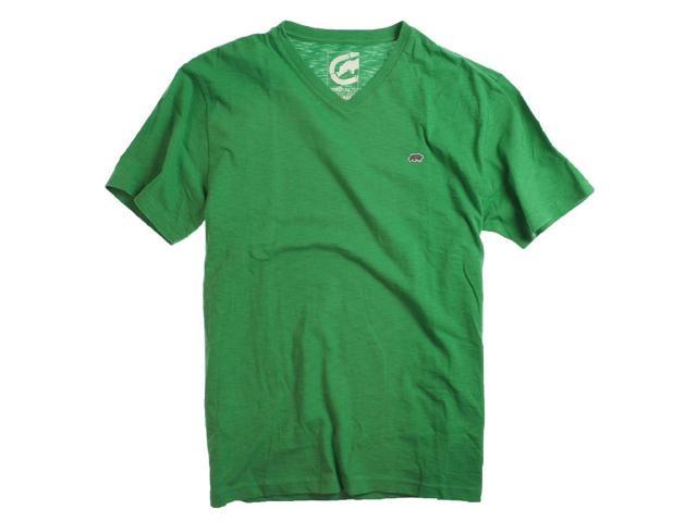 Ecko Unltd. Mens Slub Jersey V-neck Graphic T-Shirt kellygrn XL