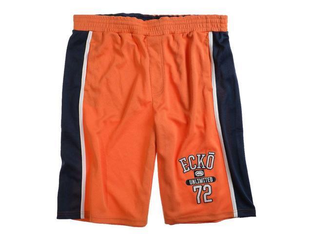 Ecko Unltd. Mens Local Boy Knit Athletic Walking Shorts orangepeel M