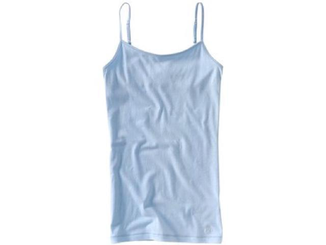Aeropostale Womens Solid Color Spaghetti Strap Tank Top crystalblue XS