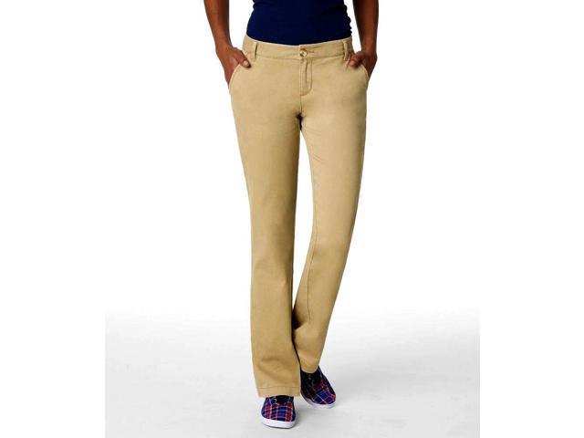 Aeropostale Womens Basic Casual Chino Pants darkst 1/2x32