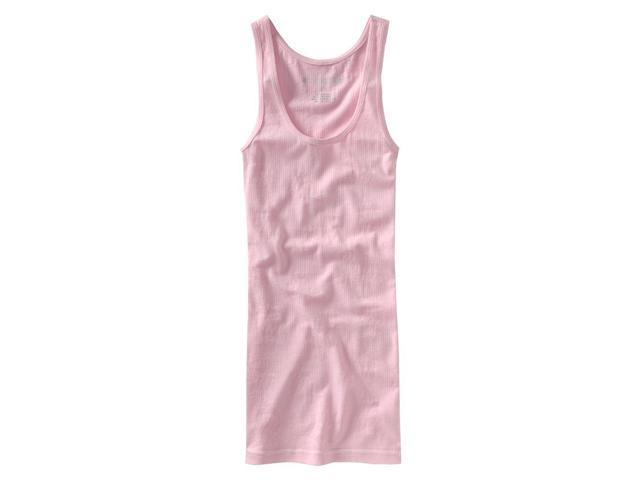 Aeropostale Womens Solid Ribbed Floral Design Boy Tank Top sugarpink XL