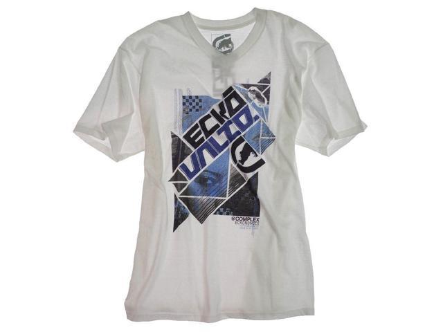 Ecko Unltd. Mens Wreck Tango Graphic T-Shirt blchwhite L