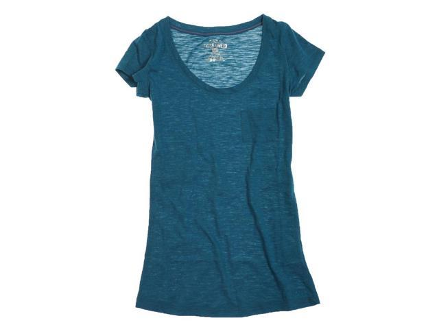 Ecko Unltd. Womens Ss Solid Scpnk Graphic T-Shirt seablue L