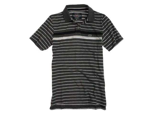 Ecko Unltd. Mens Striped Rugby Polo Shirt chrhtrgy S