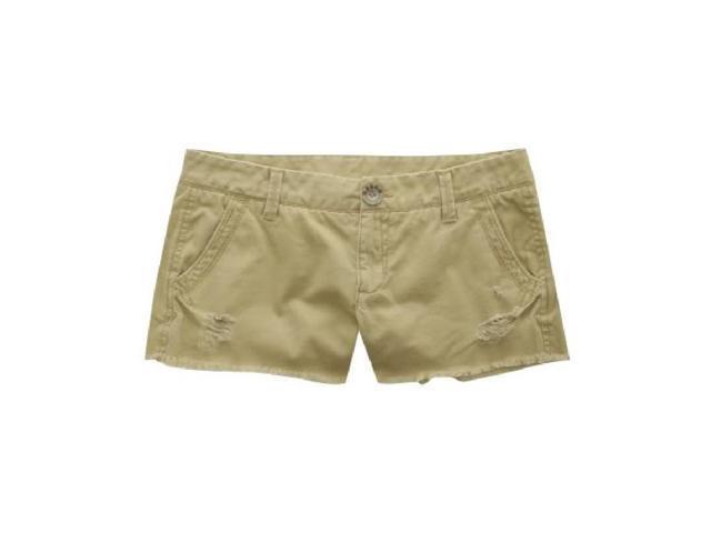 Aeropostale Womens Shortfrayed Casual Mini Shorts darksttan 1/2