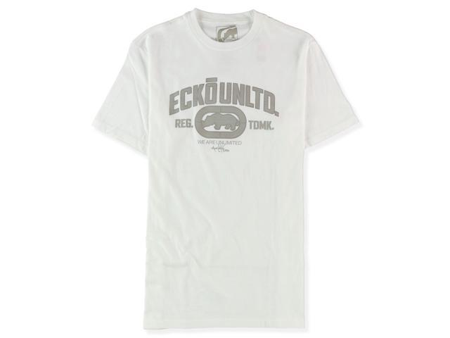 Ecko Unltd. Mens Rigid Wrecker Core Graphic T-Shirt blchwhite S