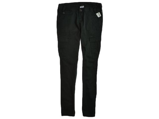 Ecko Unltd. Womens Military Cargo Straight Leg Casual Trousers black 7x26