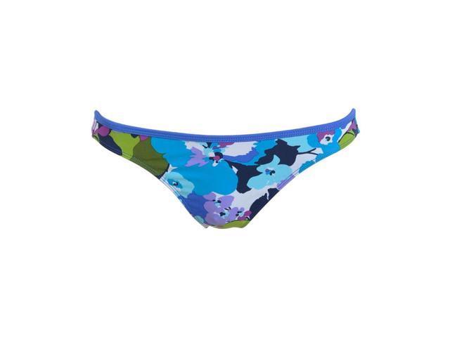 Aeropostale womens floral lowrider swim bottoms - Blue Br - XL - 9416