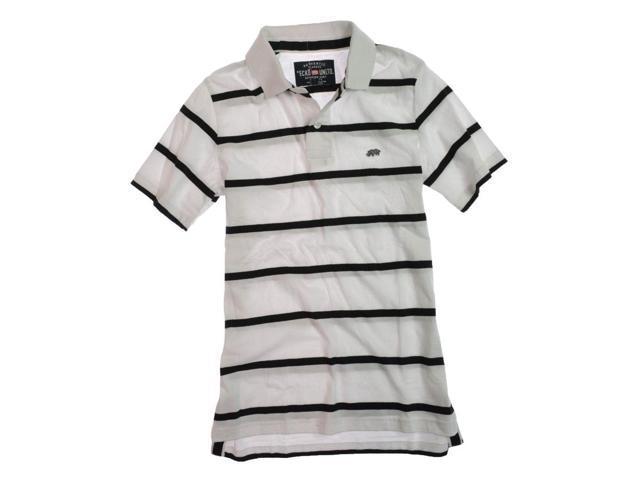 Ecko Unltd. Mens Clean Stripe Jersey Rugby Polo Shirt blchwhite M