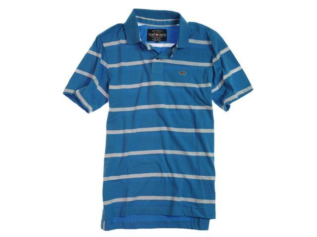 Ecko Unltd. Mens Clean Stripe Jersey Rugby Polo Shirt brightblue S