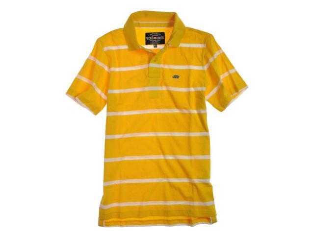 Ecko Unltd. Mens Clean Stripe Jersey Rugby Polo Shirt lemnchrome S