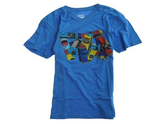 Ecko Unltd. Mens Can Blast V-neck Graphic T-Shirt freshblue XL