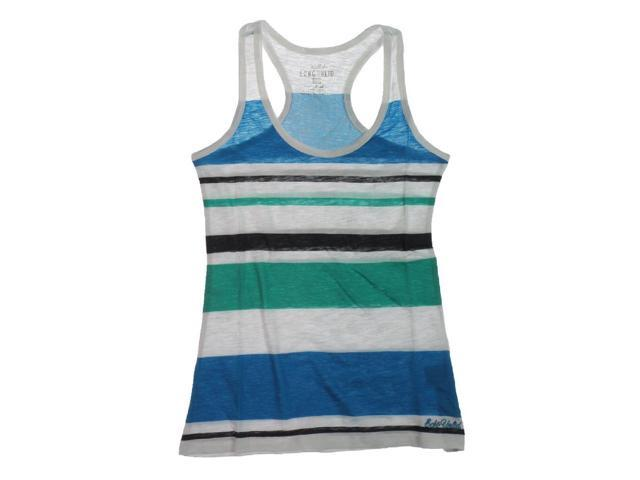 Ecko Unltd. Womens Multi Stripe Boy Racerback Tank Top white XS