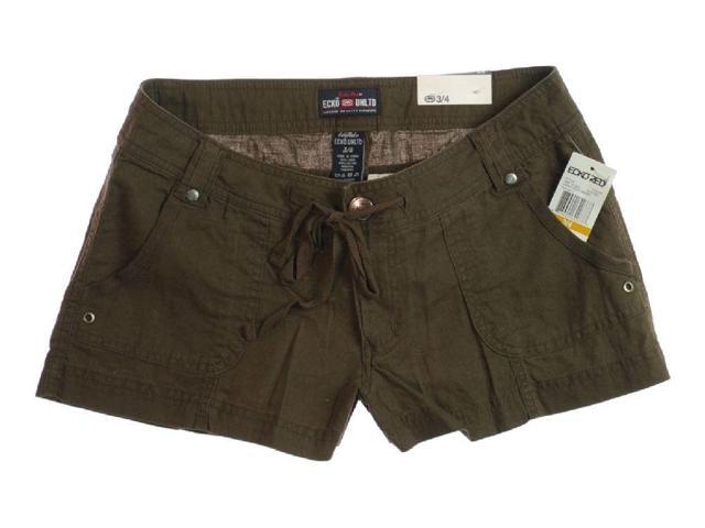 Ecko Unltd. Womens Linen Blend Casual Walking Shorts coffee 15/16