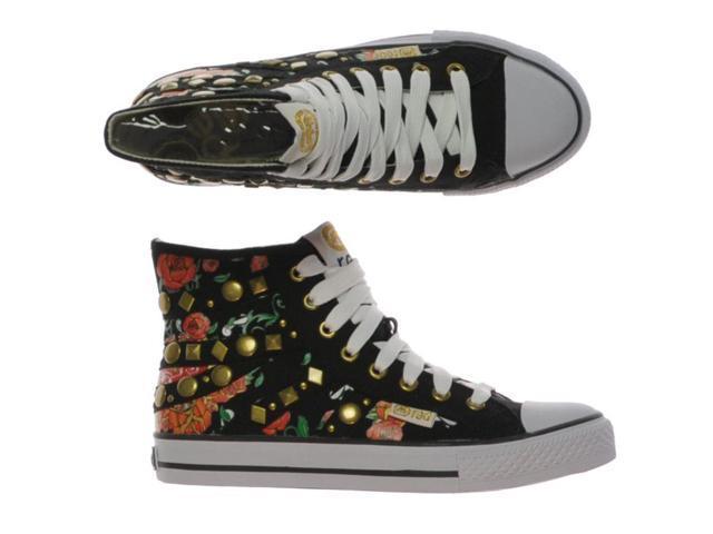 Ecko Unltd. Womens Chalsie-maple Shade Hi-shoe Sneakers blackred 8