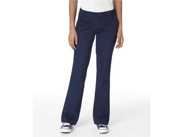 Aeropostale Womens Basic Casual Chino Pants navy 3/4x32