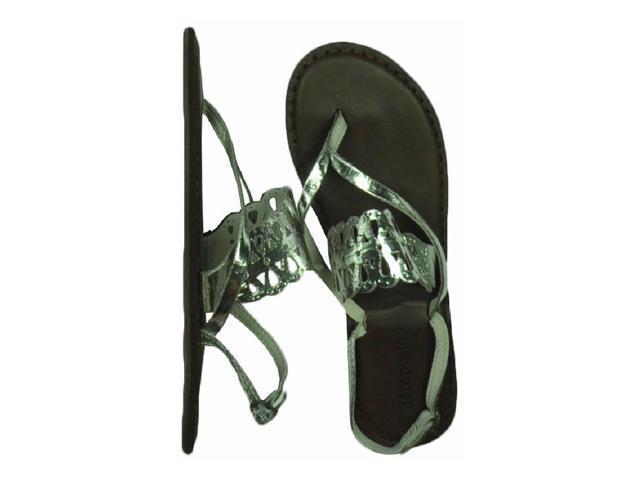 Aeropostale Womens Strap Slingback Gladiator Sandals silver 7