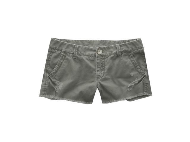 Aeropostale Womens Shortfrayed Casual Mini Shorts olivegreen 0