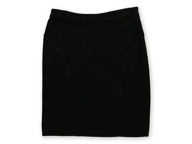 Kensie Womens Knit Pencil Skirt black 8