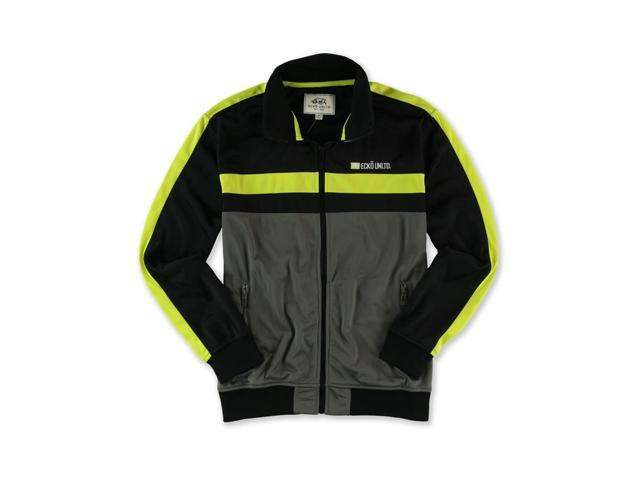 Ecko Unltd. Mens Poly Tricot Track Jacket lime S
