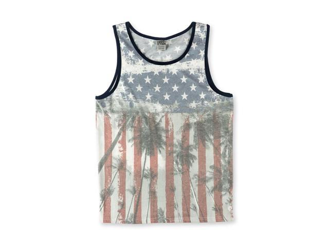 Hang Ten Mens Americana Palm Tank Top newwhite L