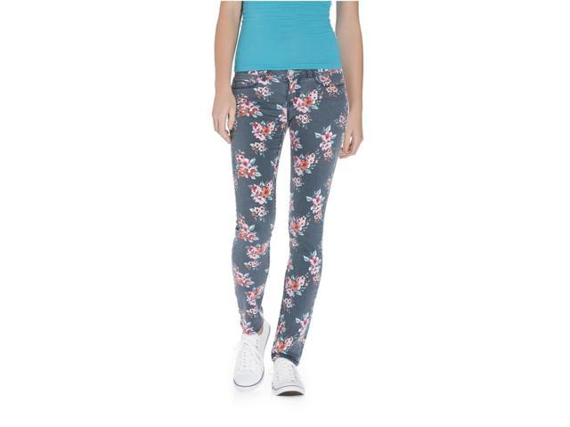 Aeropostale Womens Ashley Ultra Floral Pattern Skinny Fit Jeans 001 11/12x30