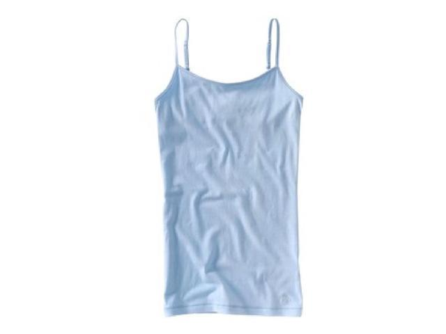 Aeropostale Womens Solid Color Spaghetti Strap Tank Top crystalblue M