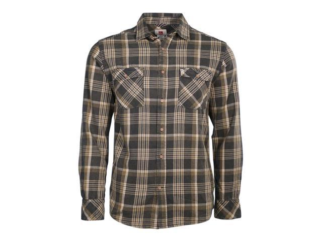 Quiksilver Mens Flannel Plaid Button Up Shirt gsv1 L