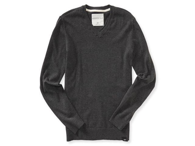 Aeropostale Mens Solid Ribbeed Pullover Sweater 017 XL