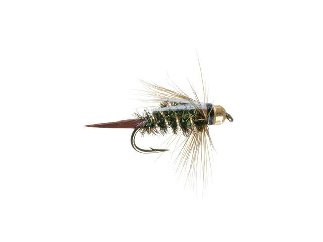 Umpqua Prince Nymph Tungsten Peacock Fly Fishing Size 16 - 12 Pack