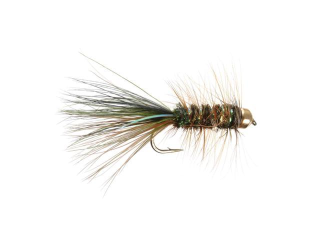 Umpqua Tungsten Thin Mint Olive/Brown/Black Fly Fishing Size 10 - 4 Pack