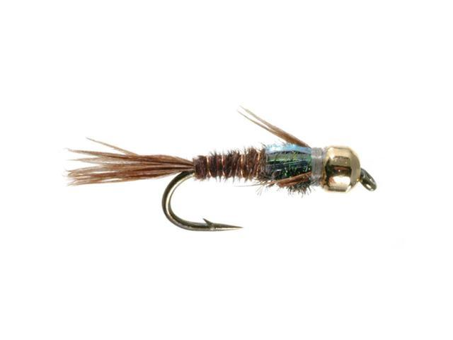 Umpqua Flashback Pheasant Tail Gold Bead Tungsten Fly Fishing Size 14 - 12 Pack