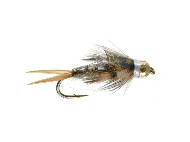 Umpqua Tungstone Golden Fly Fishing Tungsten Bead Head Flies Size 12 - 2 Pack
