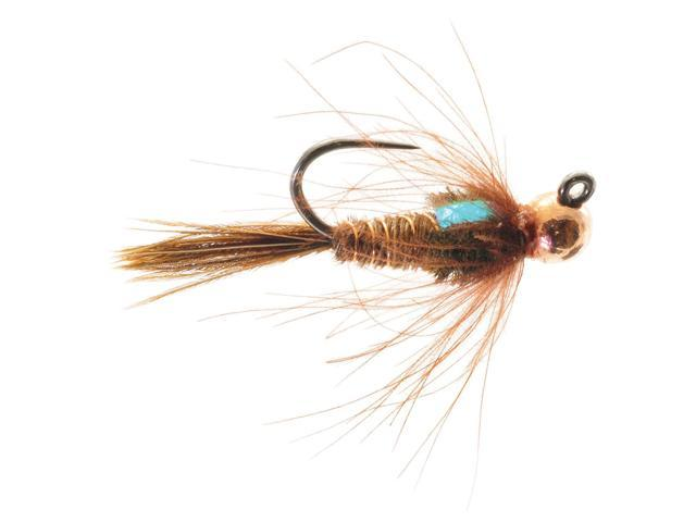 Umpqua Jigged Pheasant Tail Tungsten Copper Bead Fly Fishing Size 14 - 2 Pack