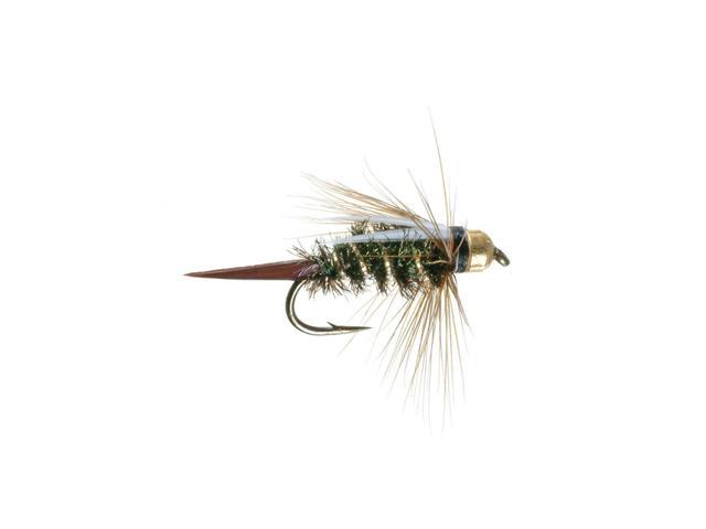 Umpqua Prince Nymph Tungsten Peacock Fly Fishing Size 14 - 2 Pack