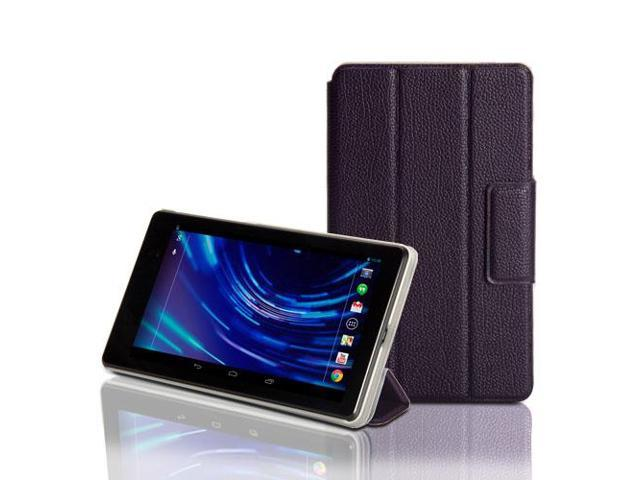 Deep Purple Folio Case Cover Stand with Wake-Up Sleep function for ASUS Google Nexus 7 2013 FHD Version 2 2nd Generation