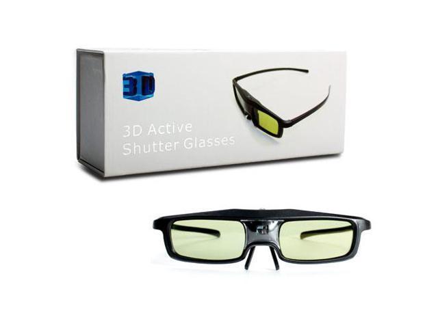 Black 3D Active Micro USB Shutter Glasses for Samsung, BenQ, NEC, Sharp, ViewSonic DLP-Link Projector 3D Ready DLP HDTV