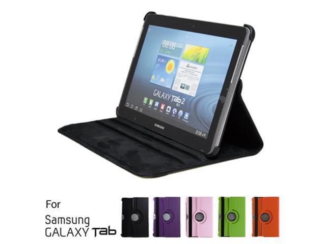 GMYLE Black 360 Degree Rotating PU leather Folio Stand Case Cover for tablet Galaxy Tab 1 2 10.1