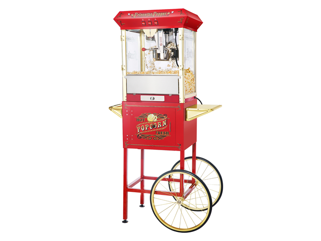 Great Northern Popcorn Company Red Princeton Antique Popcorn Machine and Cart (Red) (62