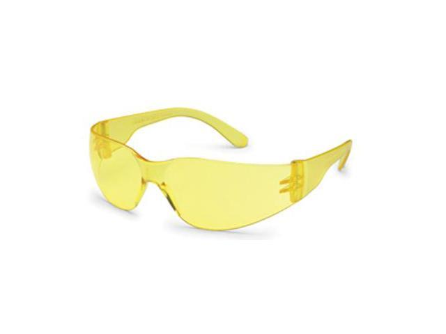 Gateway Safety 4675 Amber Temple/Amber Lens Safety Glasses