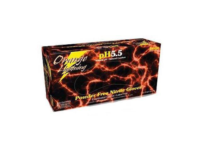 Orange Lightning OR-L Nitrile Gloves Large