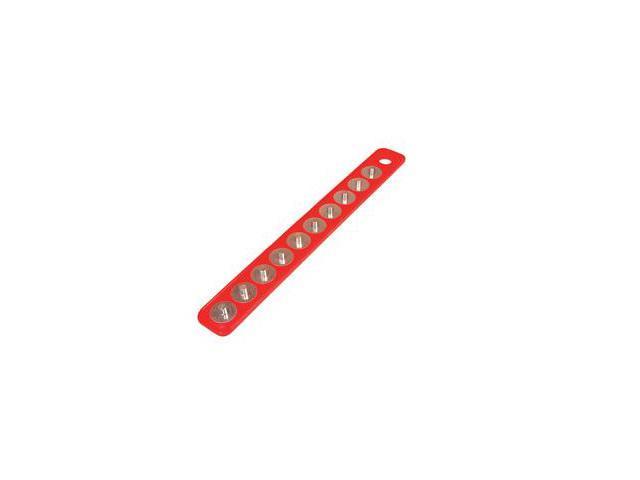"Mag-Clip 72402 Original Mag-Clip Socket Holder Strip Red 3/8"""