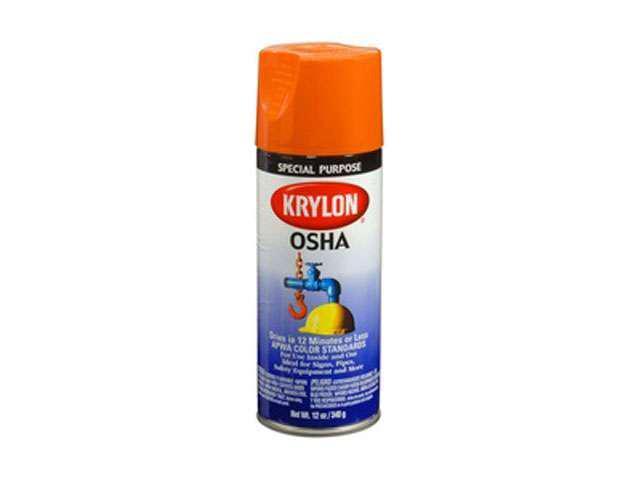 Duplicolor 2410 Krylon OSHA Color Paints Safety Orange 12 Oz. Aerosol